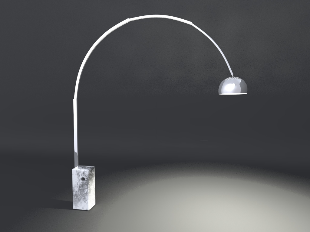 Arco Lamp By Achille Castiglioni Cheetah3d User Forum